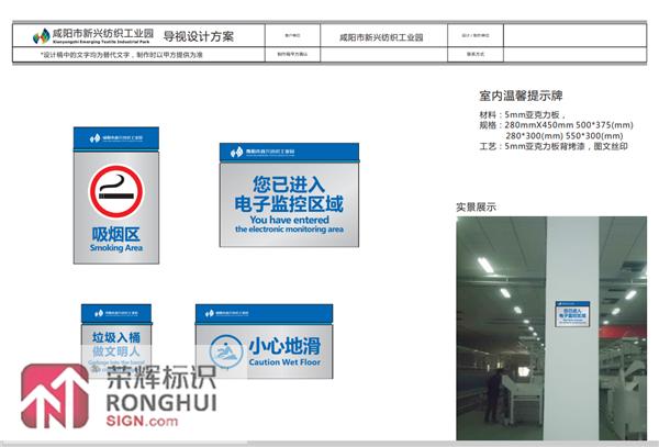 咸阳市新兴纺织工业园导视设计方案